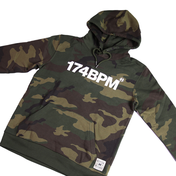 Hospital Records – 174BPM Camo Hoodie