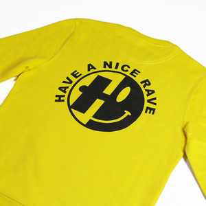Have A Nice Rave Yellow Crew Neck