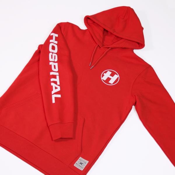 Hospital Records – Hospital Essentials: Red Hoodie
