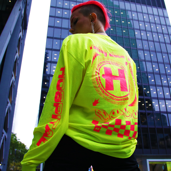 Hospital Records – Since '96 Neon Yellow Long Sleeve