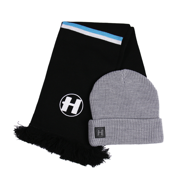Hospital Records – Beanie + Scarf Christmas Bundle