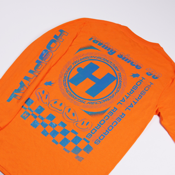 Hospital Records – Since '96 Neon Orange Long Sleeve
