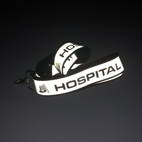 Hospital Records – Reflective Woven Lanyard