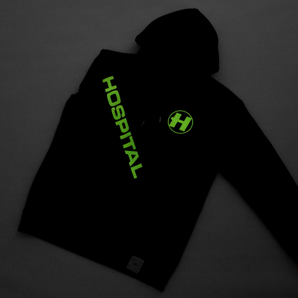 Hospital Records – Hospital Essential Hood - Black GID Hoodie