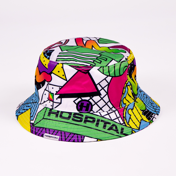 Hospital Records – PRE ORDER - Reversible Neon/Memphis Bucket Hat