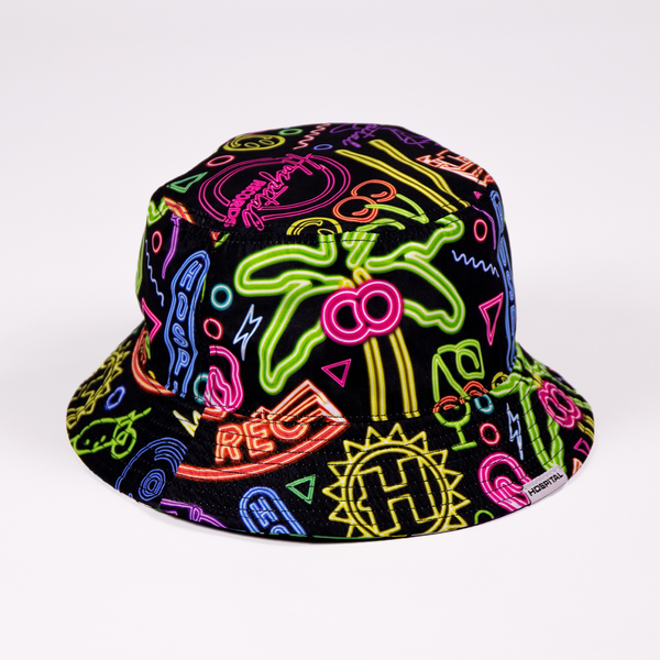 Hospital Records – Reversible Neon/Memphis Bucket Hat