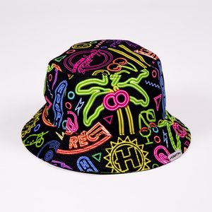 Reversible Neon/Memphis Bucket Hat