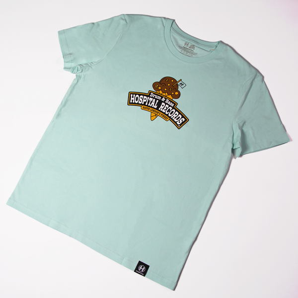 Hospital Records – Ice Cream Tee Blue