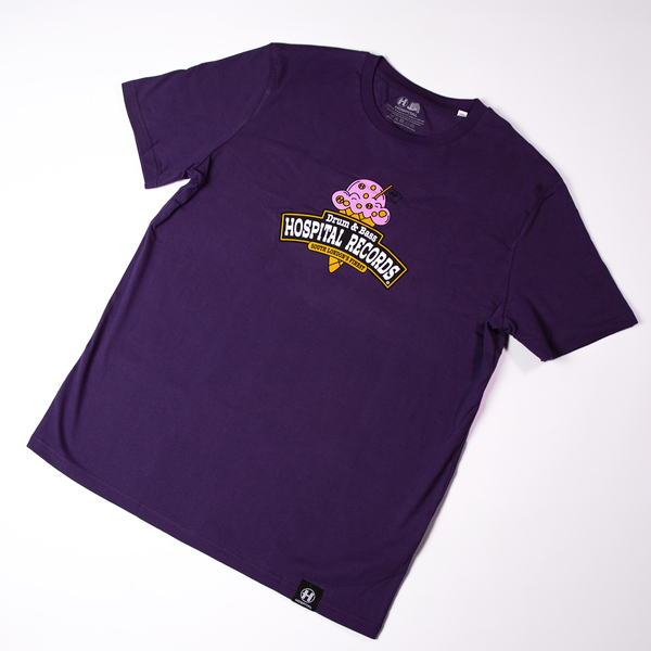 Hospital Records – Ice Cream Tee Purple