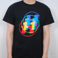 MultiColour Overlay T Shirt - Black