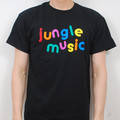Hospital Records – Jungle Music T Shirt - Black