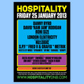 Hospital Records – Brixton January 2013 Poster