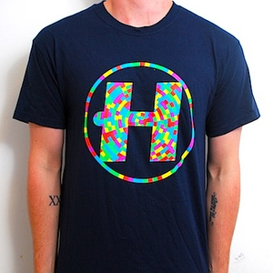 Hospital Records – Digital Camo Navy T-Shirt