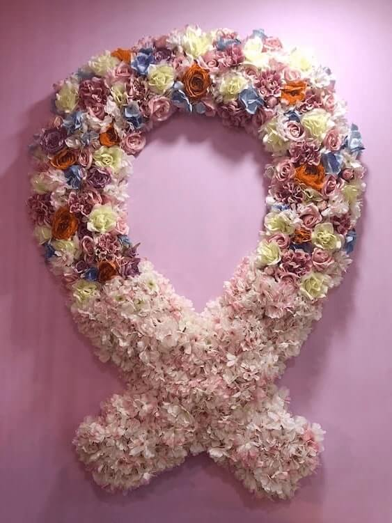 Floral Display on wall