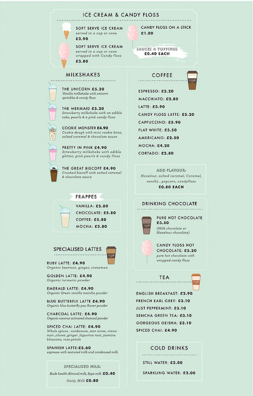 The Knot Menu - Ice Cream and Candy Floss