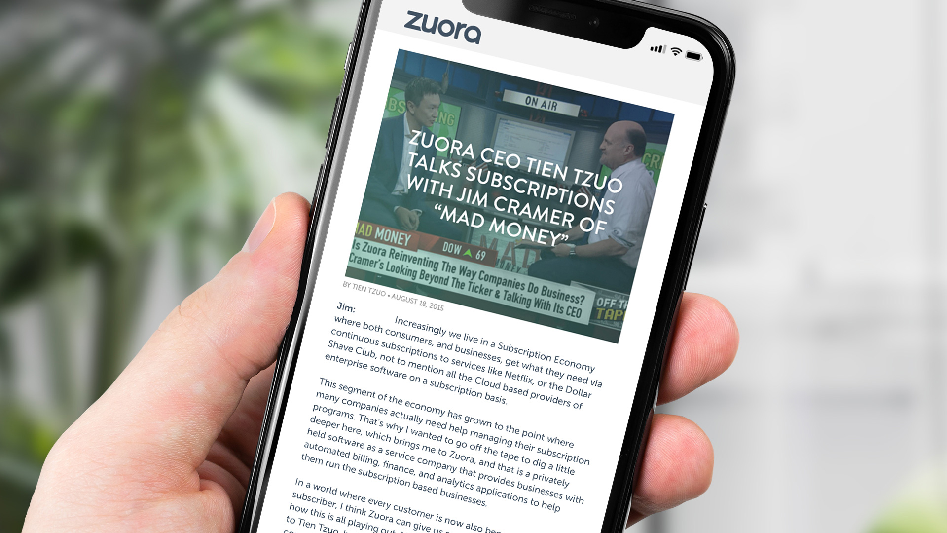 Zuora Subscription Economy