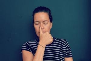 Balancerende ademhalingsoefening - duim