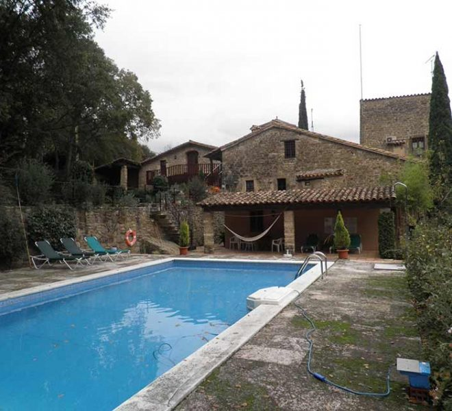 Hotel Rural en el Pla de l´Estany Piscina