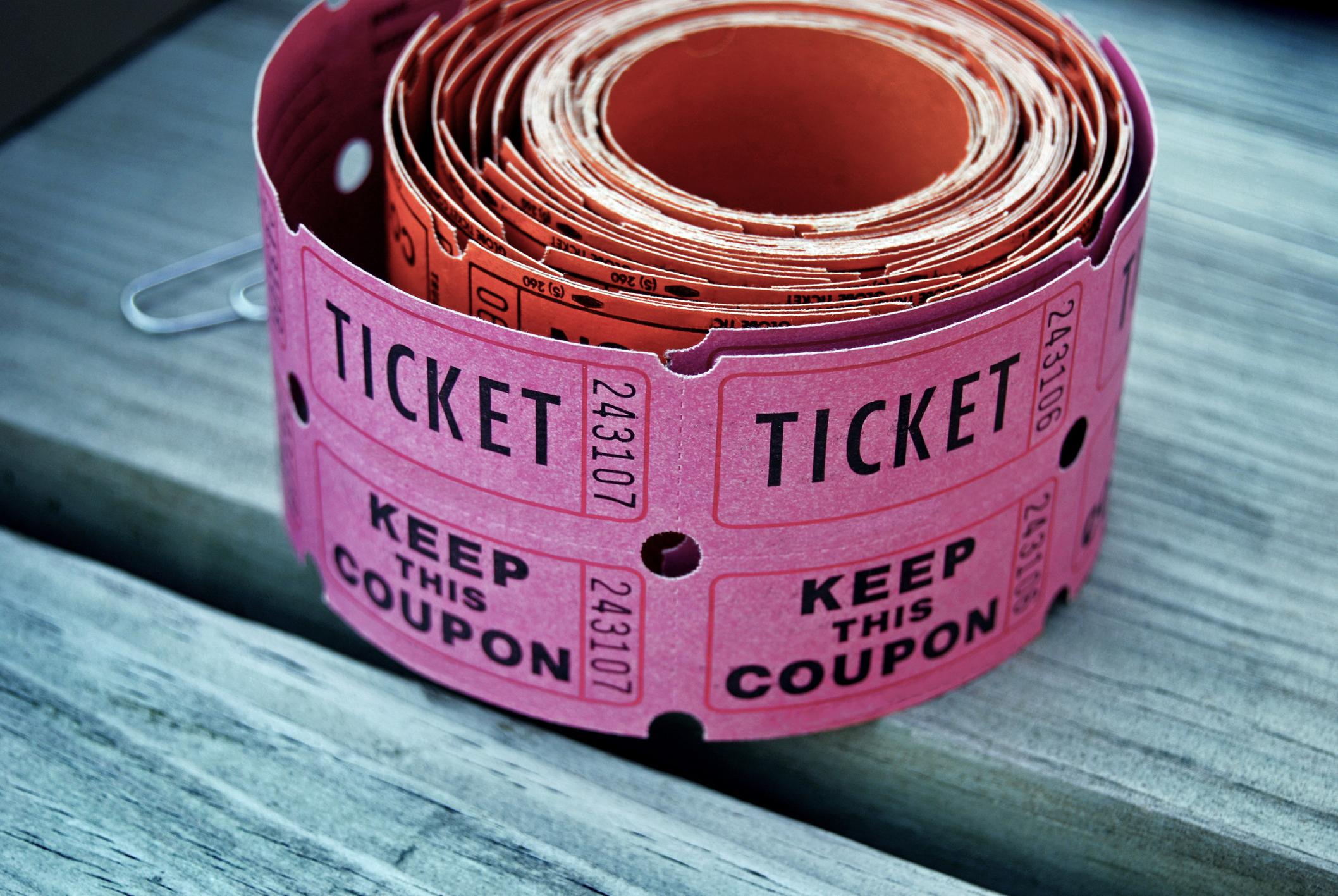 selling raffle tickets