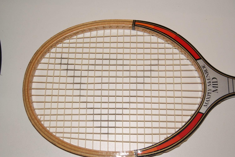 John McEnroe Dunlop Maxply: Mid 80's Wooden Tennis Racquet ...