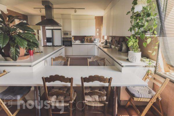 Espectacular cocina en Torrelodones. Cocinas blancas.