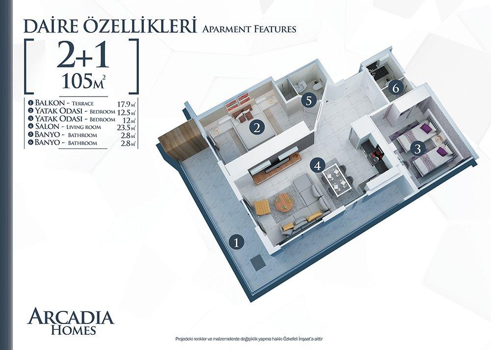 Etagenwohnung Alanya