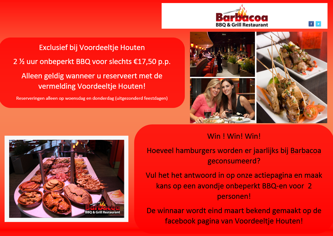 Horeca food archives voordeeltje houten for Barbacoa bbq