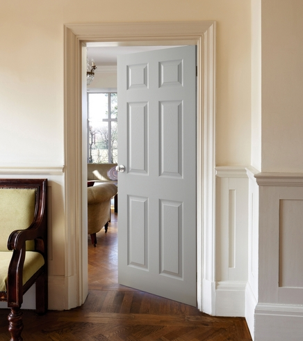 6 Panel Grained Door Internal Moulded Panel Doors