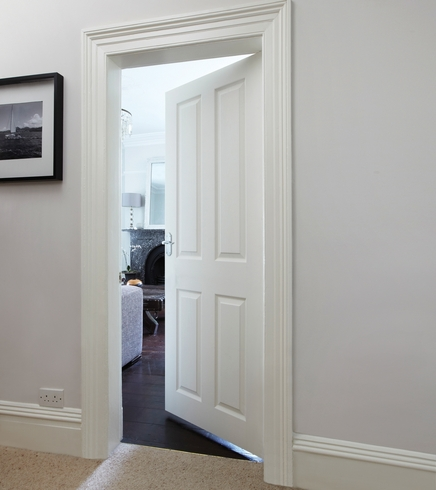 4 panel grained door internal moulded panel doors for Moulded panel doors