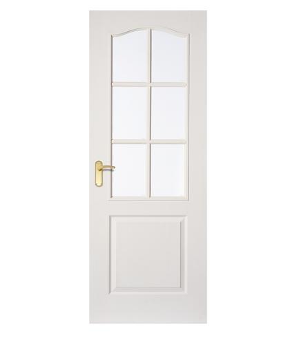 Arched Top grained 6 light glazed door