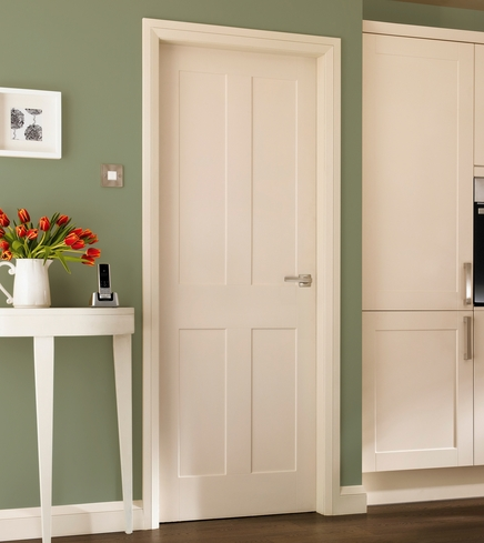 Burford 4 panel door howdens joinery for Moulded panel doors