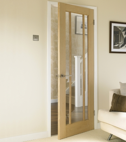Worcester Oak glazed door & Worcester Oak Glazed Door | Howdens Joinery