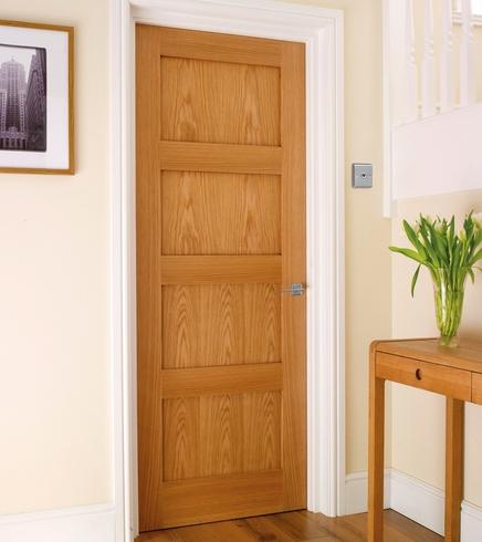 Superb 4 Panel Oak Shaker Door
