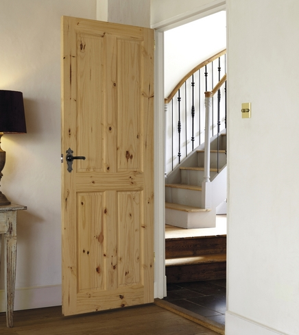 4 Panel Knotty Pine door & Internal Softwood Doors | Clear and Knotty Pine Doors | Howdens ...