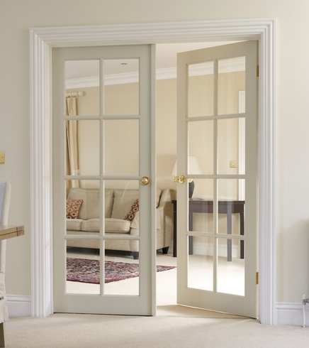 8 Light Clear Pine Glazed Door Internal Softwood Doors
