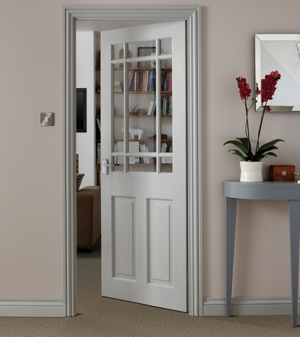 Downham Clear Pine glazed door : glazed doors howdens - pezcame.com
