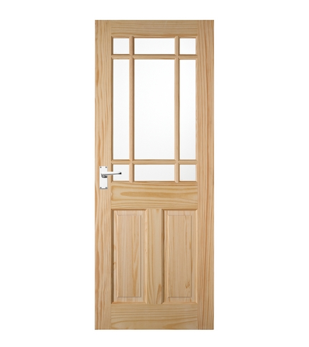 Downham Clear Pine Glazed Door Howdens Joinery