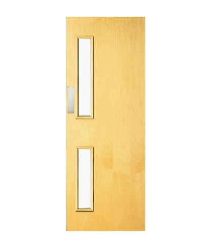 Ash veneer 16G glazed door