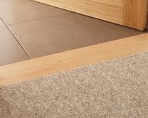Square profile internal hardwood threshold strip
