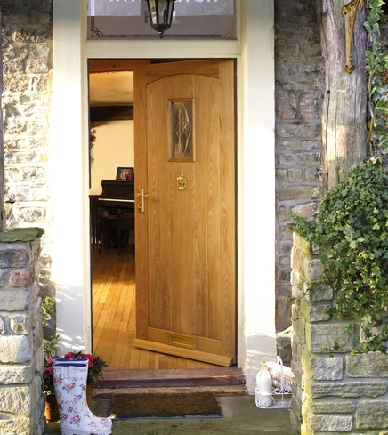 Cottage Oak triple glazed door