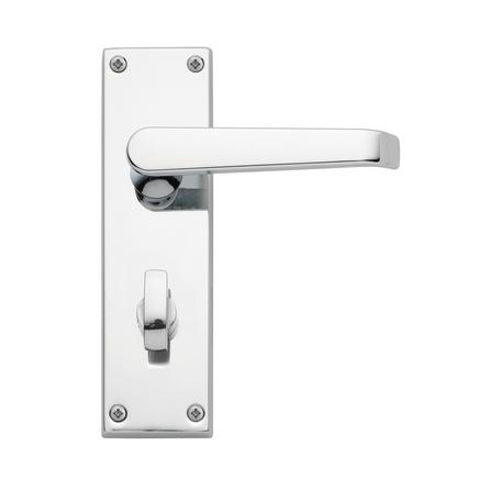 Victorian Chrome bathroom door handle