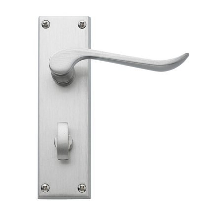 Chrissi Satin Nickel bathroom door handle