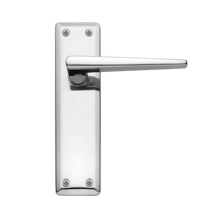 Lugano Chrome latch door handle