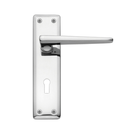 lugano chrome door handles door handles hardware. Black Bedroom Furniture Sets. Home Design Ideas
