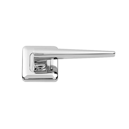 Lugano Chrome Rose door handle  sc 1 st  Howdens Joinery & Lugano Chrome Rose Door Handle | Howdens Joinery
