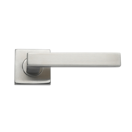 Burford Brushed Stainless Steel Square Rose door handle  sc 1 st  Howdens Joinery & Burford Brushed Stainless Steel Square Door Handle | Howdens Joinery