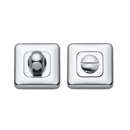 Chrome square bathroom turn