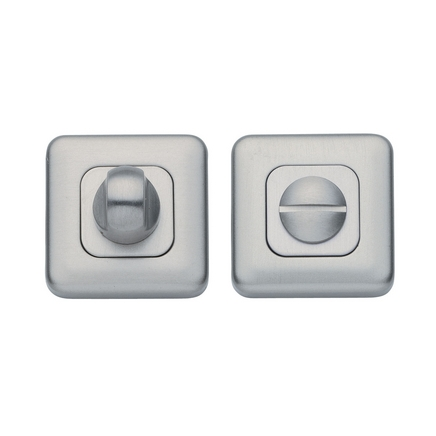 Satin Nickel Square Bathroom Turn Bathroom Door Handles