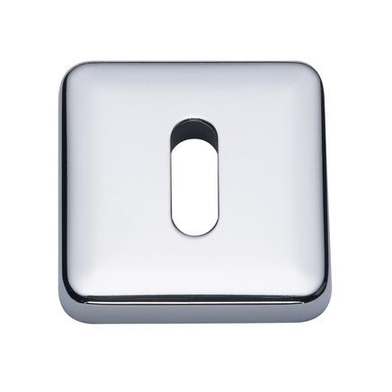Chrome square escutcheon