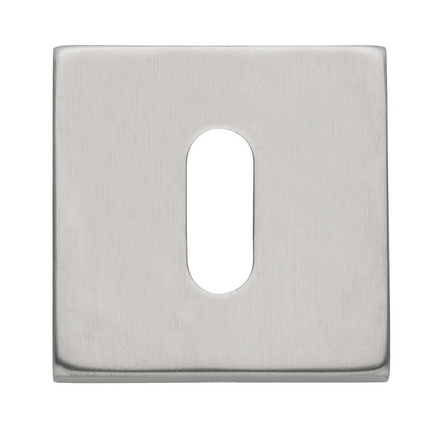 Brushed Stainless Steel Effect square escutcheon